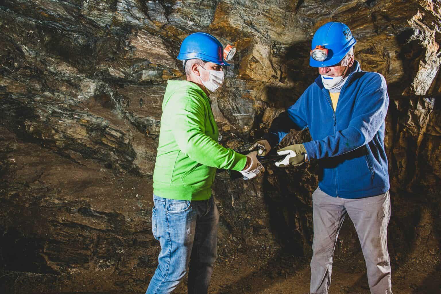 L'affinamento dei vini spumante metodo classico nelle miniere di talco.