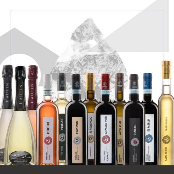 Pacchetto 1 bottiglia per tipo dei vini biologici piemontesi L'Autin